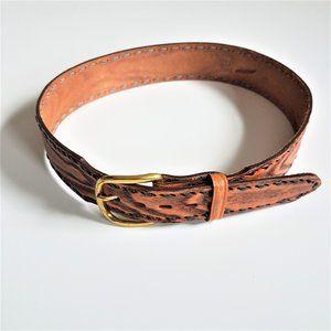 Tony Lama leather waist belt.